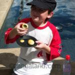 My son eating escargot. Yes, ESCARGOT.