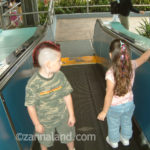 the kids exiting the Wedway People Mover (TTA) in December of 2005