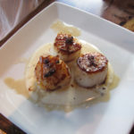 Delicious scallops at Sanaa