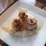 Delicious scallops at Sanaa