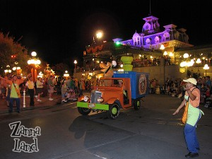 Cast Members let us know to get our bags ready for candy!