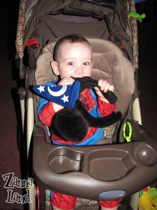 Spider-Mickey eating his ears...