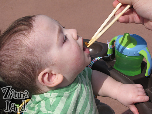 Wordless Wednesday-Future Disney Gourmand-in-Training?