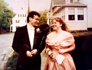 us on prom night, May 1991