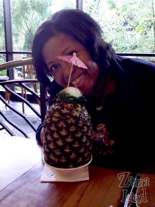 Disney Mom Dannee N. with her Lapu Lapu at Kona Cafe