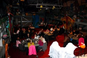 Overview of The Prop Shop & our dinner photo courtesy of Disney Mom Kathie F.
