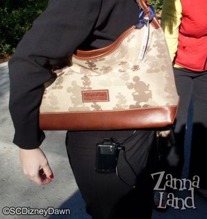 Brown Mickey Champsac on arm