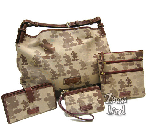 Brown Mickey Dooney and Bourke purse styles