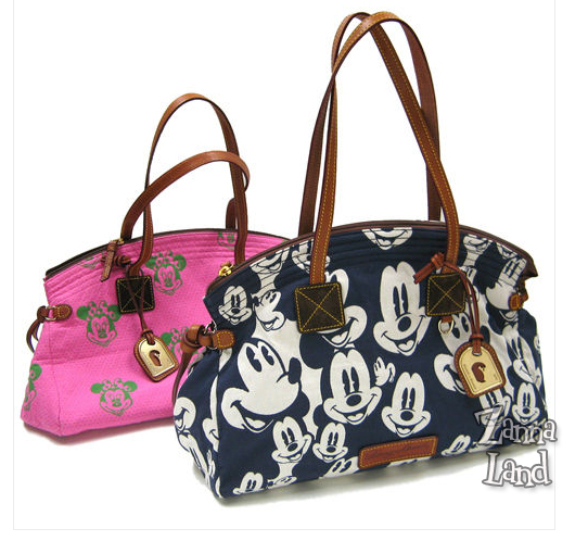 Blue Mickey and Pink Minnie Dooney and Bourke purses