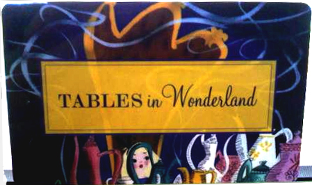 Tables in Wonderland Menu for Discovery Dinner at The Wave