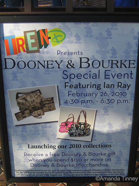 Tren-D sign for Dooney and Bourke event
