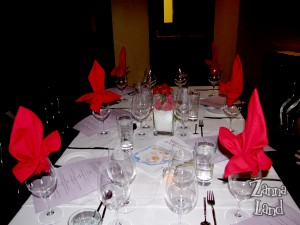 Table at The Wave Discovery Dinner