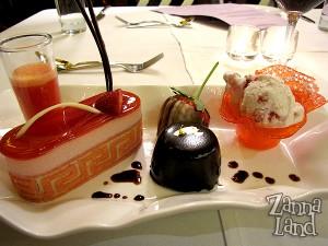 dessert close-up