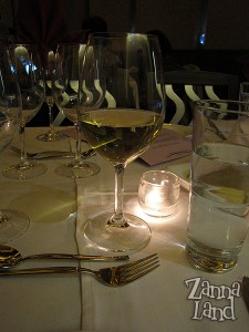 White table wine at The Wave