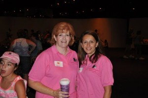 Anna S and Cathy S at the Mickey Moms Club Party