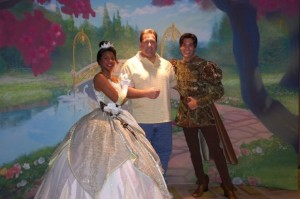 Chris with princess tiana