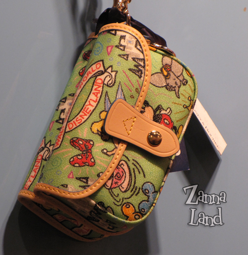 Disney Dooney and Bourke green wristlet