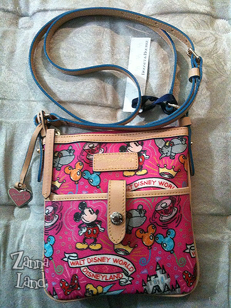 Disney Dooney and Bourke pink Sketch Letter Carrier