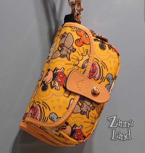 Disney Dooney and Bourke yellow wristlet