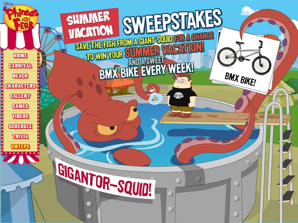 phineas and ferb sweepstakes