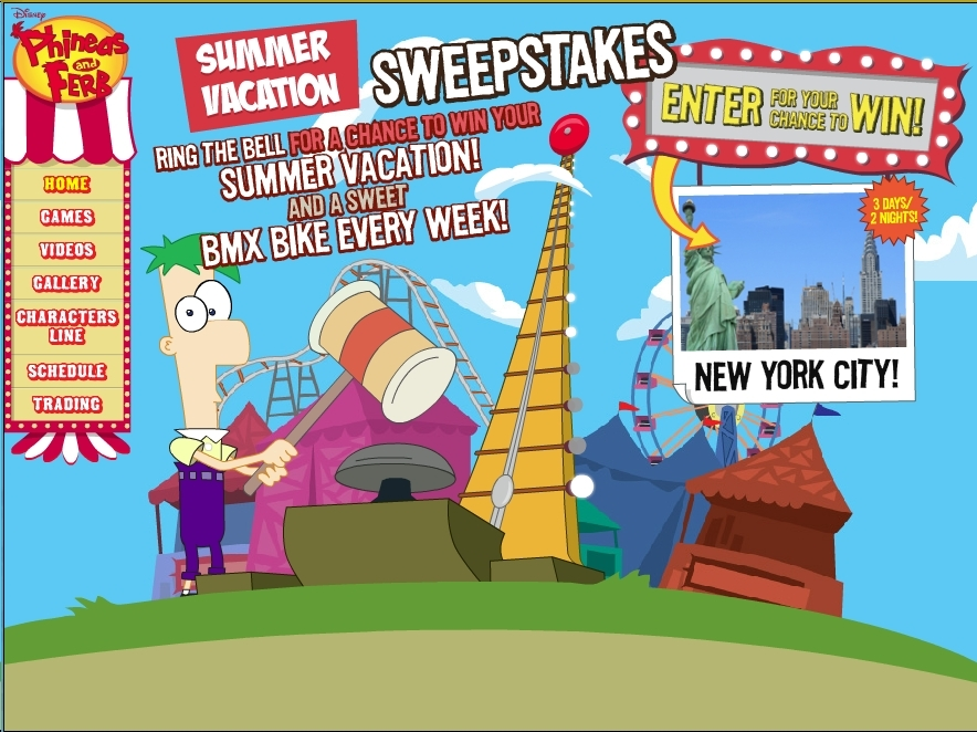 Phineas and Ferb Summer Sweepstakes