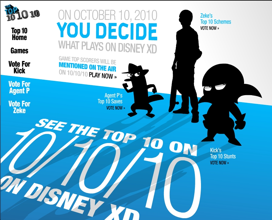 On Disney XD's 10|10|10 Top Ten Marathon-YOU Decide What Shows To See!