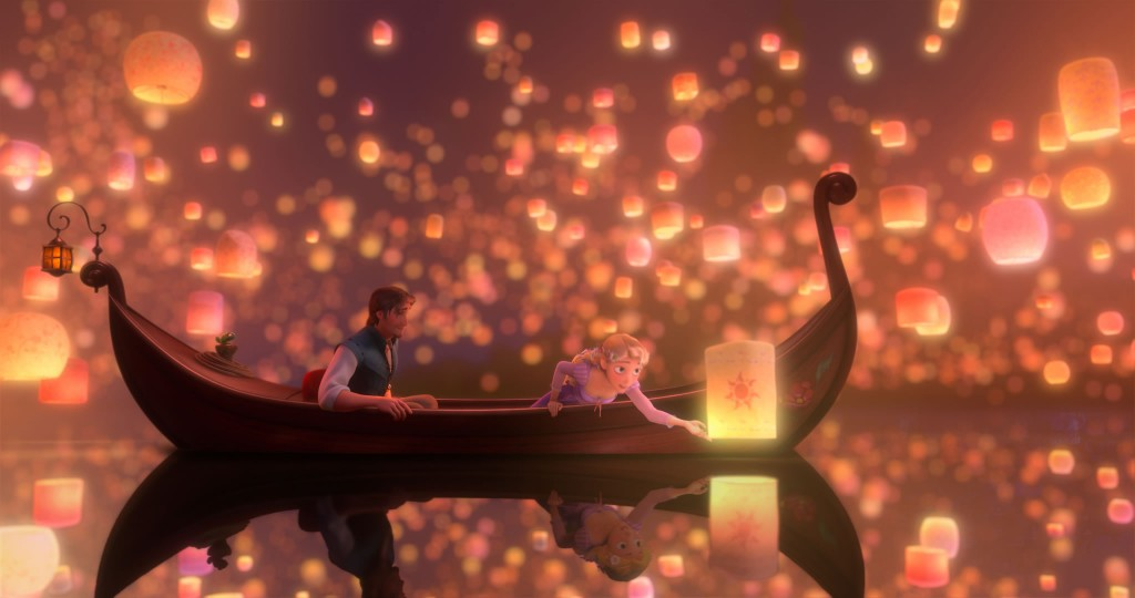 Tangled lantern scene
