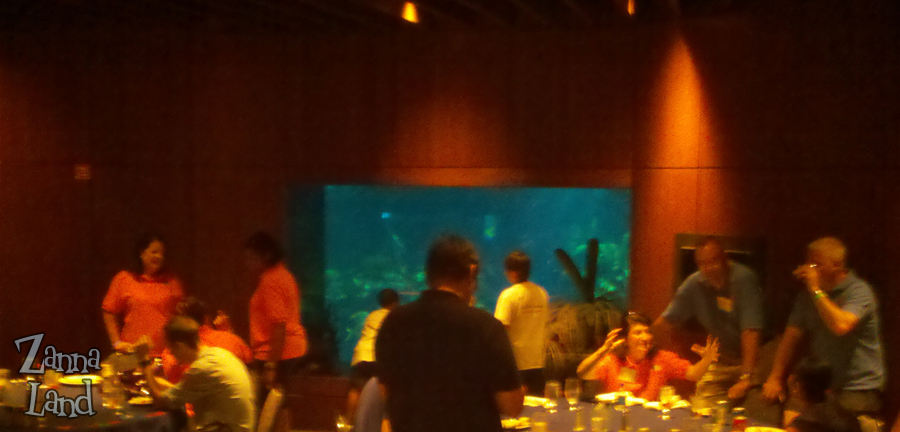 Inside the VIP Lounge at The Living Seas