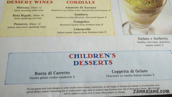 Children's desserts Via Napoli
