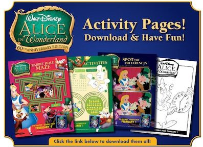 Alice in Wonderland Activity Pages