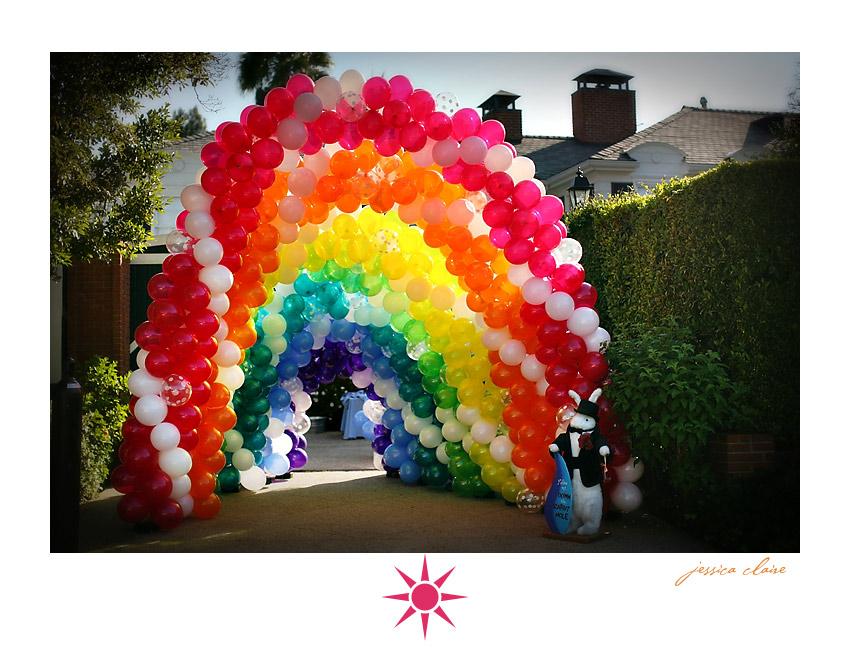 Alice in Wonderland balloon arch