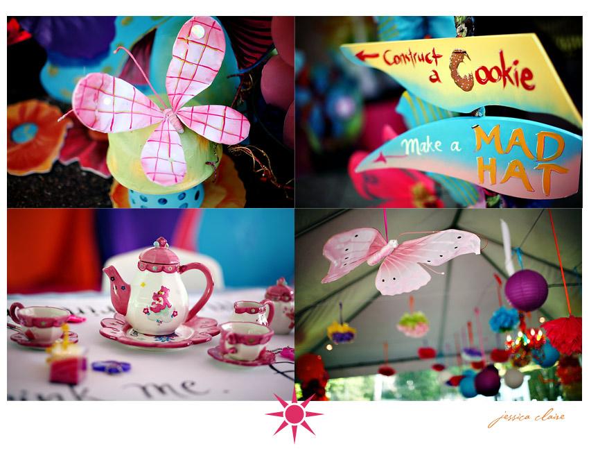 Alice in Wonderland birthday party decor
