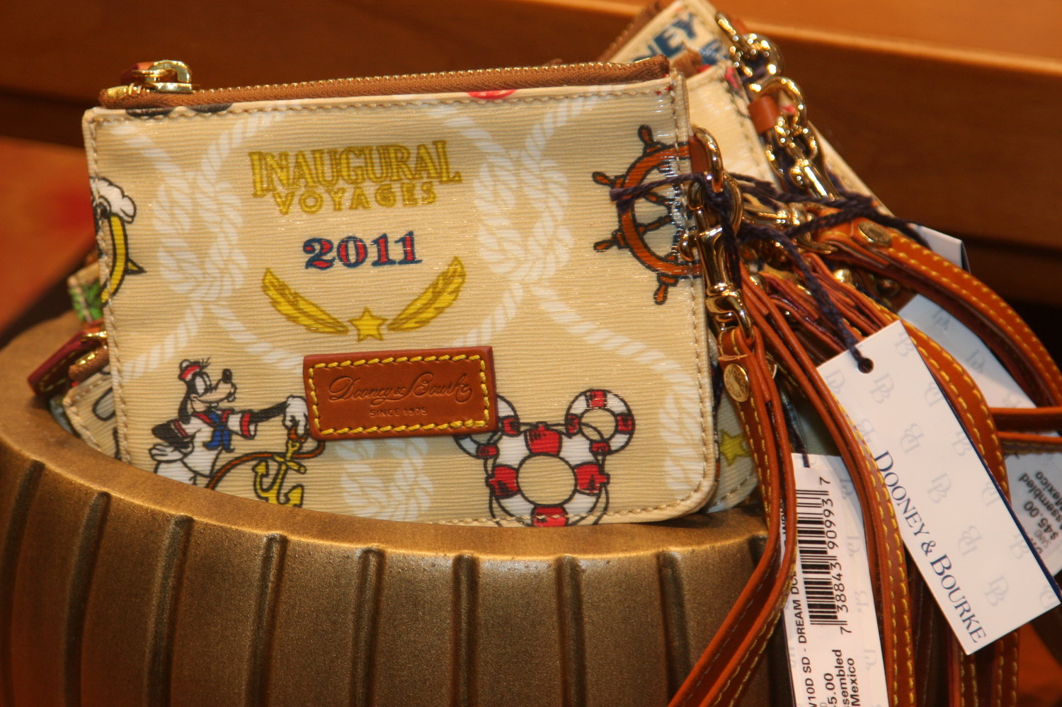 Disney Cruise Line Dream Inaugural Dooney wristlet