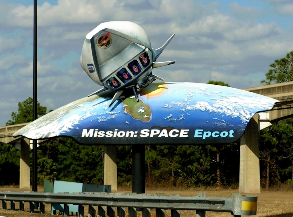 Mission Space sign