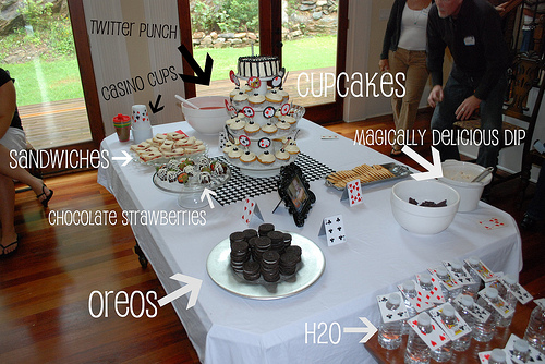 Alice Ace of Spades party food