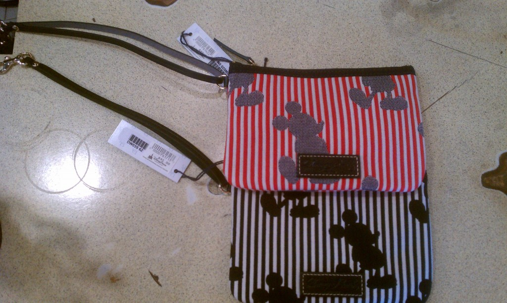 Disney Dooney Stripes wristlets