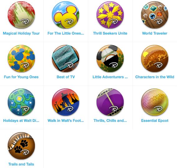 Disney Gowalla trip pins