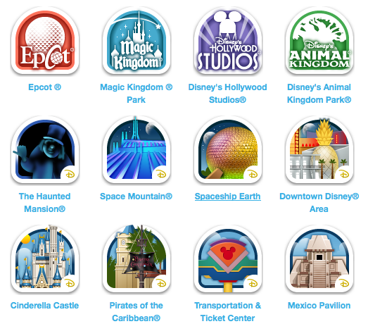 Disney Gowalla places