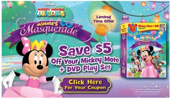 Minnie's Masquerade dvd coupon