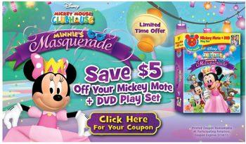 Minnie's Masquerade dvd coupon
