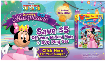 Minnie's Masquerade on DVD With Mickey Mote & Extras-Plus $5 Off!