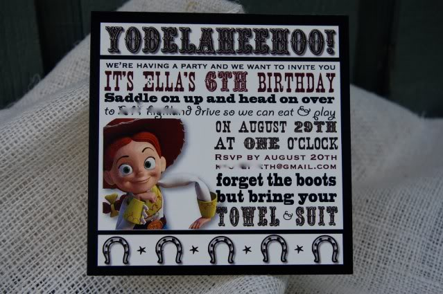 Toy Story Jessie party invitations