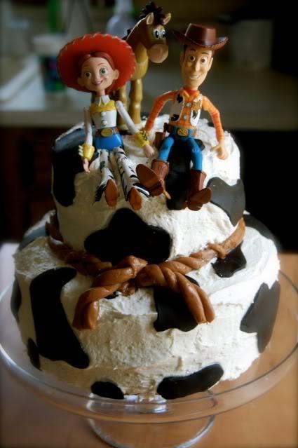Toy Story Woody Jessie Bullseye Cake