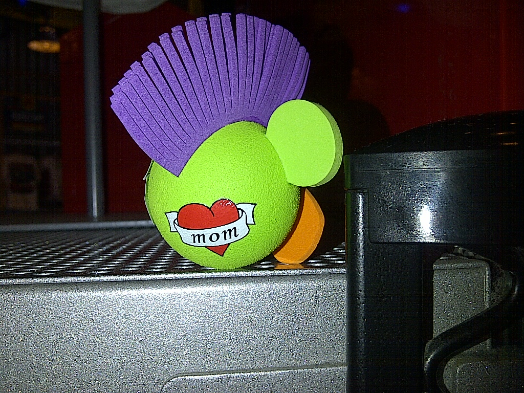 Mohawk Mickey antenna topper