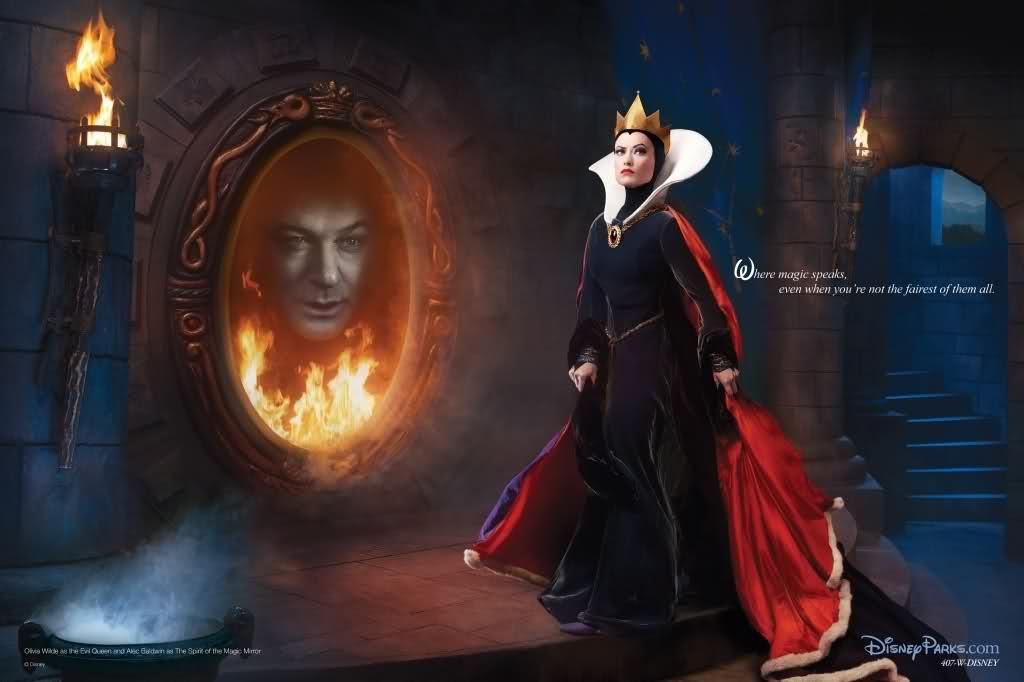 Olivia Wilde and Alec Baldwin Annie Leibovitz Disney Dream portrait