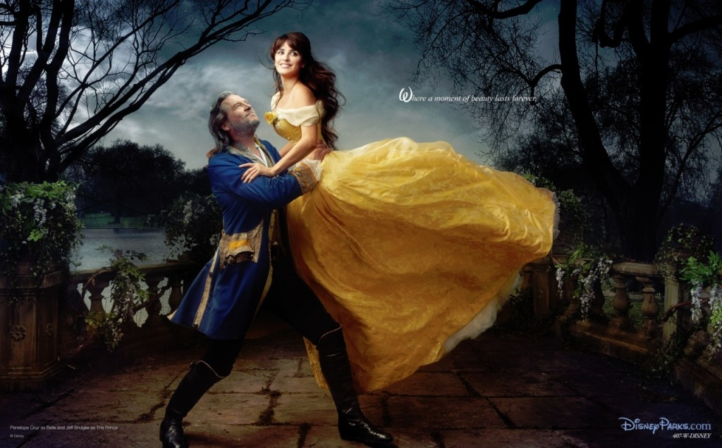 Jeff Bridges and Penelope Cruz Annie Leibovitz Disney Dream portrait