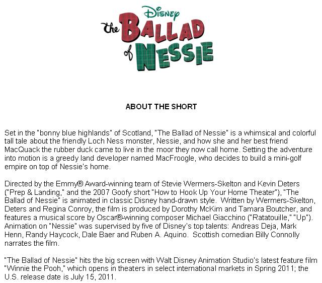 THE BALLAD OF NESSIE description