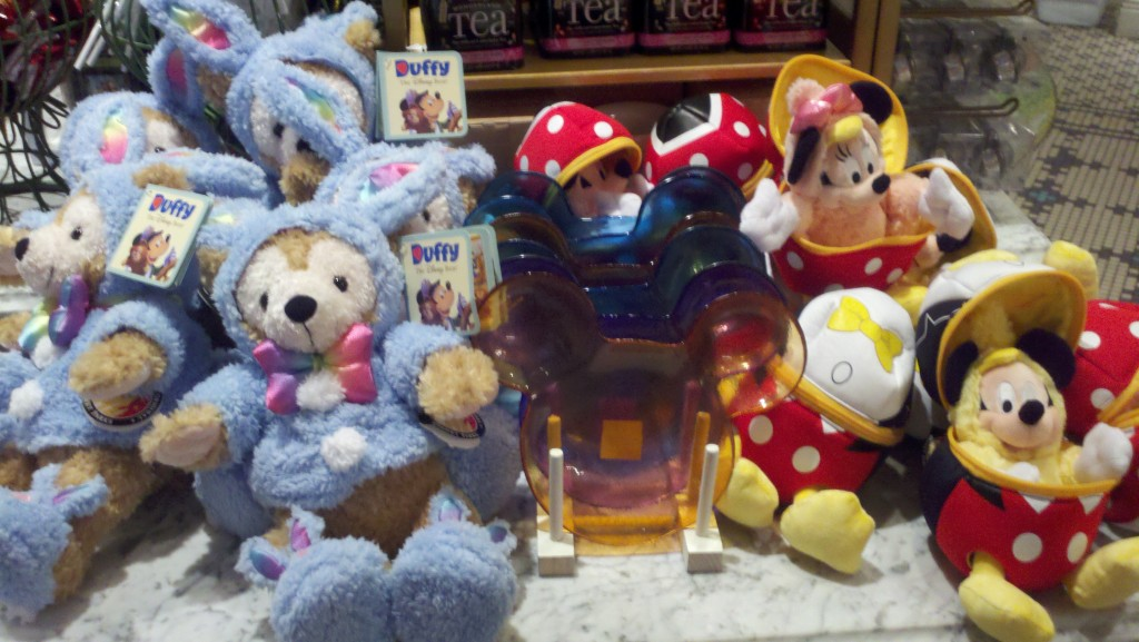 Easter Duffy and Mickey and Minnie plush