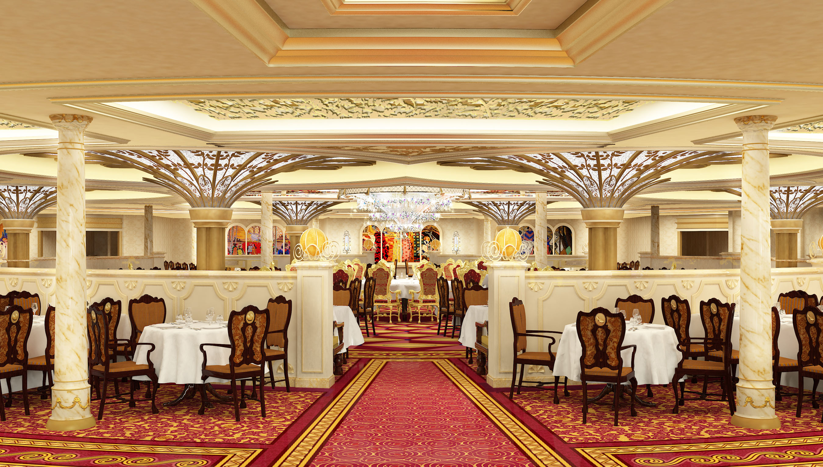 DCL's Disney Fantasy to Feature Mademoiselle Minnie and Royal Court Restaurant