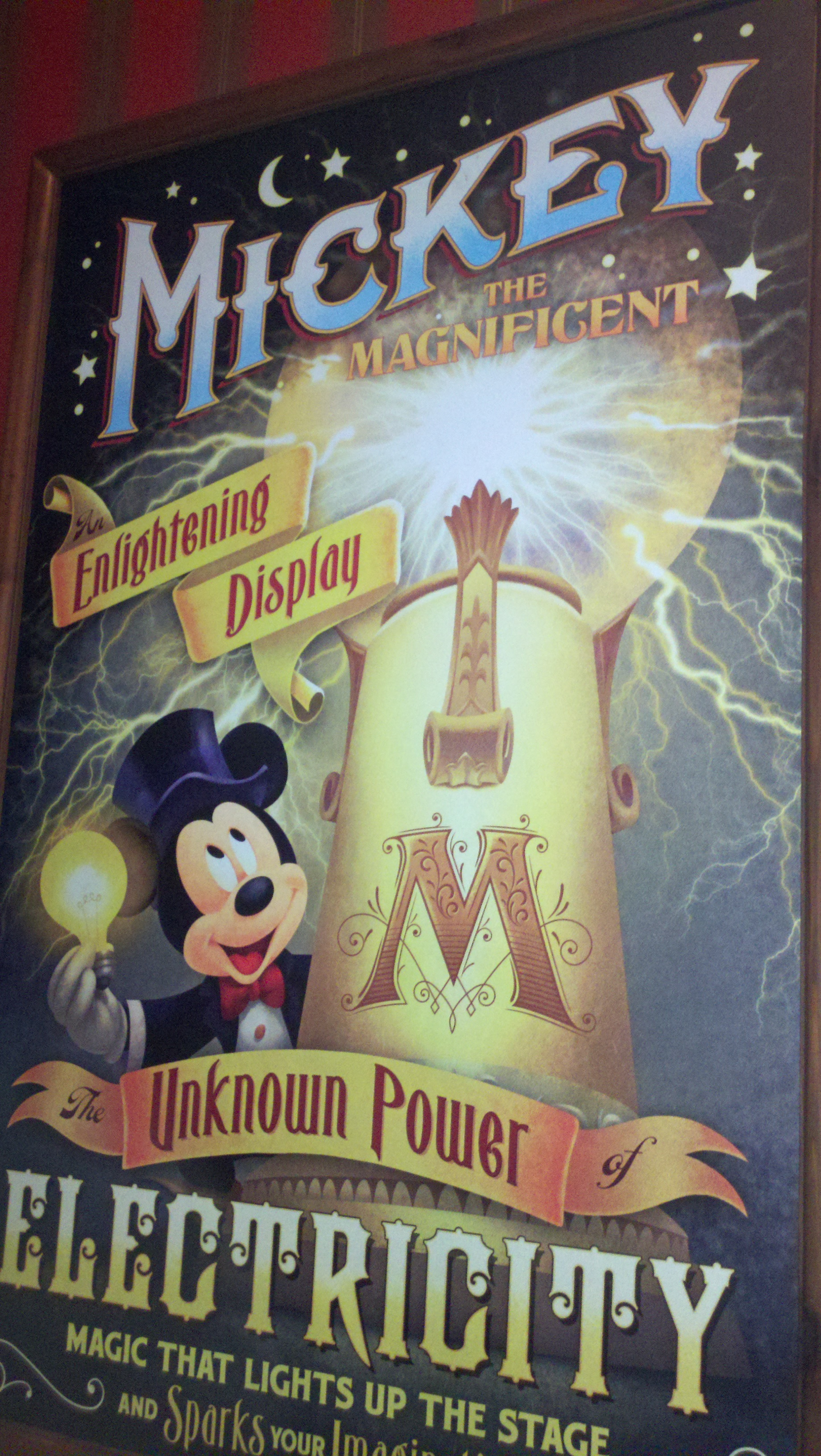 Electrifying Secret Mickey Surprise at Walt Disney World's Town Square Theater